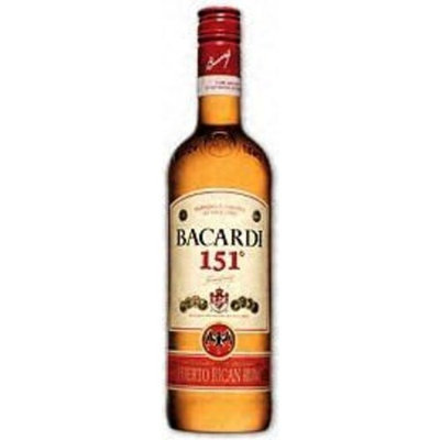 Bacardi Rum 151@ 1 Liter