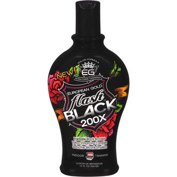 European Gold Flash Black 200x Ever Indoor Tanning Lotion, 12 fl oz