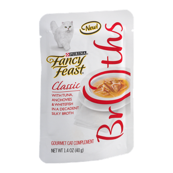 Fancy Feast® Wet Cat Food With Tuna, Anchovies & Whitefish In A Decadent Silky Broth