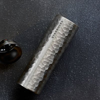 Stainless Steel Hammered Tumbler - Silver, 16 fl oz Starbucks Drinkware