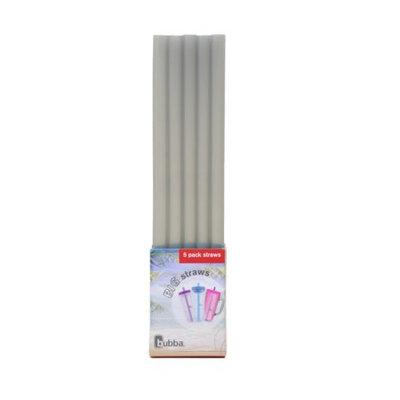 Bubba Brands bubba big straws 5ct of reusable straws (Gray)