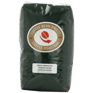 Coffee Bean Direct Green Unroasted French/Italian Espresso Blend, Whole Bean Coffee, 5-Pound Bag