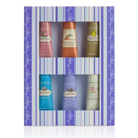 Crabtree & Evelyn Hand Therapy Sampler Gift (6 x 25g Rosewater, Gardeners, Citron, La Source, Lavender & Summer Hill)