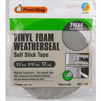 Tape Foam 3/8In 17Ft 3/16In THERMWELL PRODUCTS Weatherstripping Tape V443H Gray