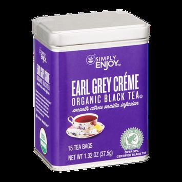 Simply Enjoy Earl Grey Creme Organic Black Tea Bags - 15 CT