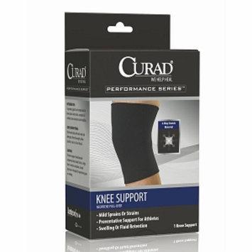 Curad Knee Support Neoprene Pull Over, X-Large, Black, 1 ea