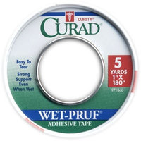 Curad Wet Pruf Adhesive Tape 5 Yards 1x180 in (2 Pack)