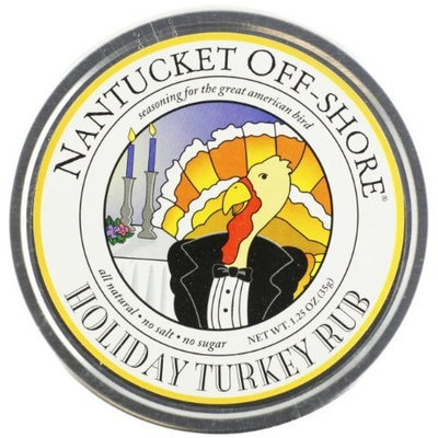 Nantucket Off-Shore Holiday Turkey Rub, 1.25-Ounce Tins (Pack of 6)