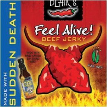 Unknown Beef Jerky, Blair's, Feel Alive, with Sudden Death Hot Sauce, XXX-Heat, 2oz. Pouch