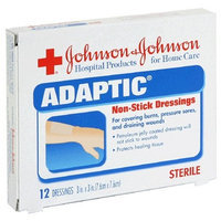 Johnson & Johnson Adaptic Non-Stick Dressings (3 x 3-Inch), 12-Count Dressings (Pack of 2)