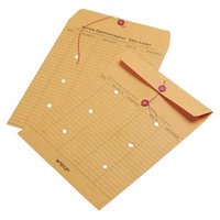 Quality Park Brown Kraft Kraft String & Button Interoffice Envelope -