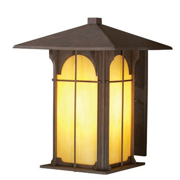 allen + roth Lindbergh 11-1/2-in Olde Brick Outdoor Wall Light 39378