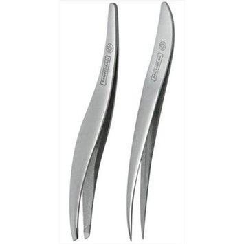Mundial Bc-391 Duo Set Tweezers - Slanted & Pointed