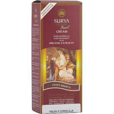 Surya Brasil: Natural Henna Cream, Light Brown 2.31 oz