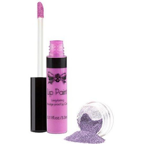 Tattoo Junkee Wicked Lilac Lip Paint & Glitter Set, 2 pc