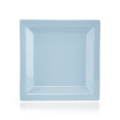 Martha Stewart Collection Harlow Shaker Blue Square Salad Plate