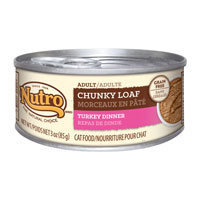 Nutro Natural Choice Adult Chunky Loaf Turkey Dinner Canned Cat Food