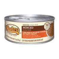 Nutro Natural Choice Senior Minced Chicken & Salmon Formula Canned Cat Food 24/3-oz cans