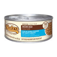 Nutro Natural Choice Senior Minced Cod & Tuna Formula Canned Cat Food 24/3-oz cans