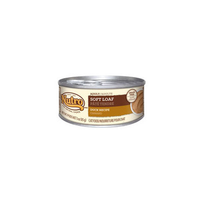 Nutro Natural Choice Adult Soft Loaf Duck Recipe Canned Cat Food 24/3-oz cans