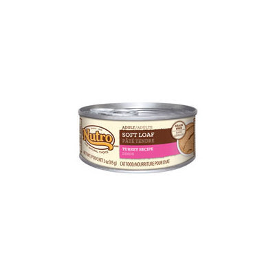Nutro Natural Choice Adult Soft Loaf Turkey Recipe Canned Cat Food 24/3-oz cans