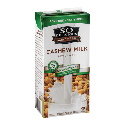 So Delicious Dairy Free Cashew Milk Unsweetened