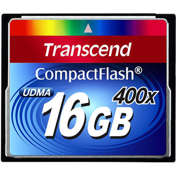 Transcend - Flash memory card - 16 GB - 400x - CompactFlash