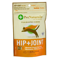 Pet Naturals Chicken Liver Hip + Joint Fun-Shaped Chews for Cats