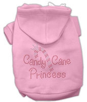 Mirage Pet Products 542504 XXLPK Candy Cane Princess Hoodies Pink XXL 18