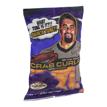 Home Team Snacks MD Crab Seasoned Crab Curls with Cheese