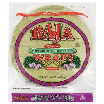 Baja Spinach Wrap, 14-Ounce (Pack of 6)