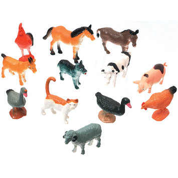 Wmu Creatures Inc-Farm Animals 12/Pkg