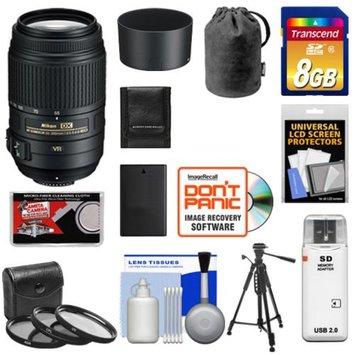 Nikon 55-300mm f/4.5-5.6G VR DX AF-S ED Zoom-Nikkor Lens + 8GB Card + EN-EL9 Battery + Filter Set + Tripod + Accessory Kit for D40, D60, D3000, D5000 Digital SLR Cameras
