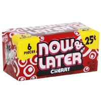Now and Later NOW&LATER CHANGEMAKERS BARS CHERRY - 25c 6 pcs Each ( 24 in a Pack )