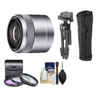 Sony Alpha NEX E-Mount E 30mm f/3.5 Macro Lens with 3 UV/FLD/PL Filters + Macro Tripod + Kit for A7, A7R, A7S, A3000, A5000, A5100, A6000 Cameras