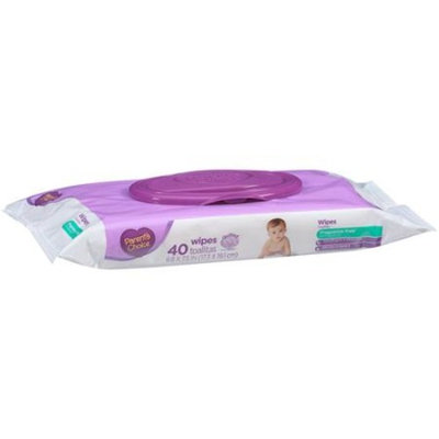 Parent's Choice Fragrance Free Baby Wipes, 40 sheets