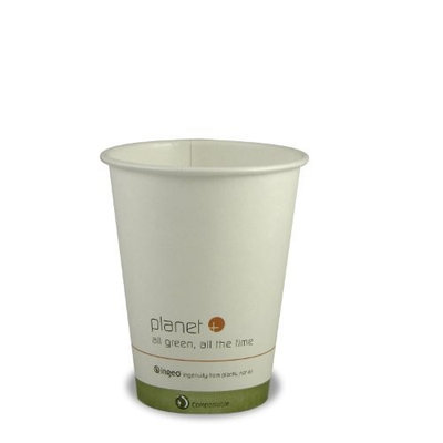 Stalkmarket Planet + 100% Compostable PLA Laminated Hot Cup, 12-Ounce, 1000-Count Case