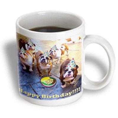 Recaro North 3dRose - Edmond Hogge Jr Birthdays - English Bulldog Birthday - 15 oz mug