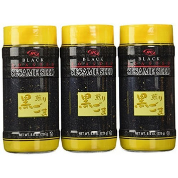 JFC Sesame Seeds Black Roasted, 8 Ounce (Pack of 3)