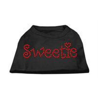 Mirage Pet Products 5278 LGBK Sweetie Rhinestone Shirts Black L 14