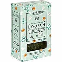 Earth Therapeutics Loofah Exfoliating Bar Soap Aloe Vera and Kiwi 4.2 oz