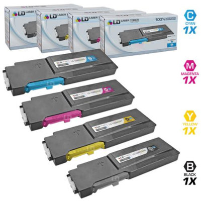 LD Compatible Xerox Phaser 6600 Set of 4 HY Laser Toner Cartridges: 1 106R02228, 1 106R02225, 1 106R02226 & 1 106R02227 for the Phaser 6600, 6600dn, 6600n, 6600ydn & Workcentre 6605, 6605dn, 6605n