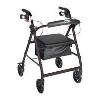 Drive Medical Rollator with Fold-up Back Rest & Padded Seat