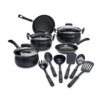 Tabletops Unlimited, Inc Essential Home 14 Piece Carbon Steel Nonstick Cookware Set TTU Q5167 - TABLETOPS UNLIMITED, INC.