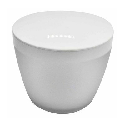 Room Essentials White Frosted Canister