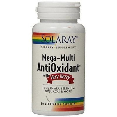 Solaray Mega Multi Antioxidant with Very Berry Vitamin Capsules, 60 Count