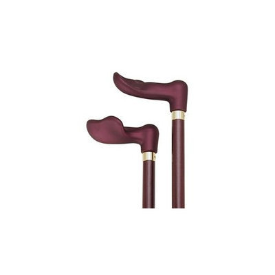 Harvy Canes Soft Touch Palm Grip Cane Metallic Burgundy/Black -Affordable Gift! Item #DHAR-9787500