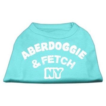 Mirage Pet Dog Cat Indoor Oudoor Apparel Gift AccessoriesAberdoggie NY Screenprint Shirts Aqua Medium (12)