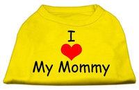 Ahi I Love My Mommy Screen Print Shirts Yellow XXXL (20)