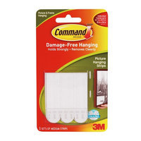 Command Strips Damage Free Hanging:  Picture